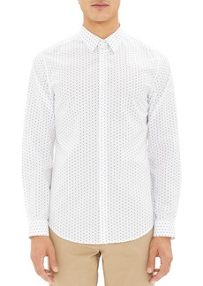 Theory Irving Trim Fit Polka Dot Sport Shirt
