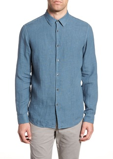 Theory Irving Trim Fit Solid Linen Sport Shirt