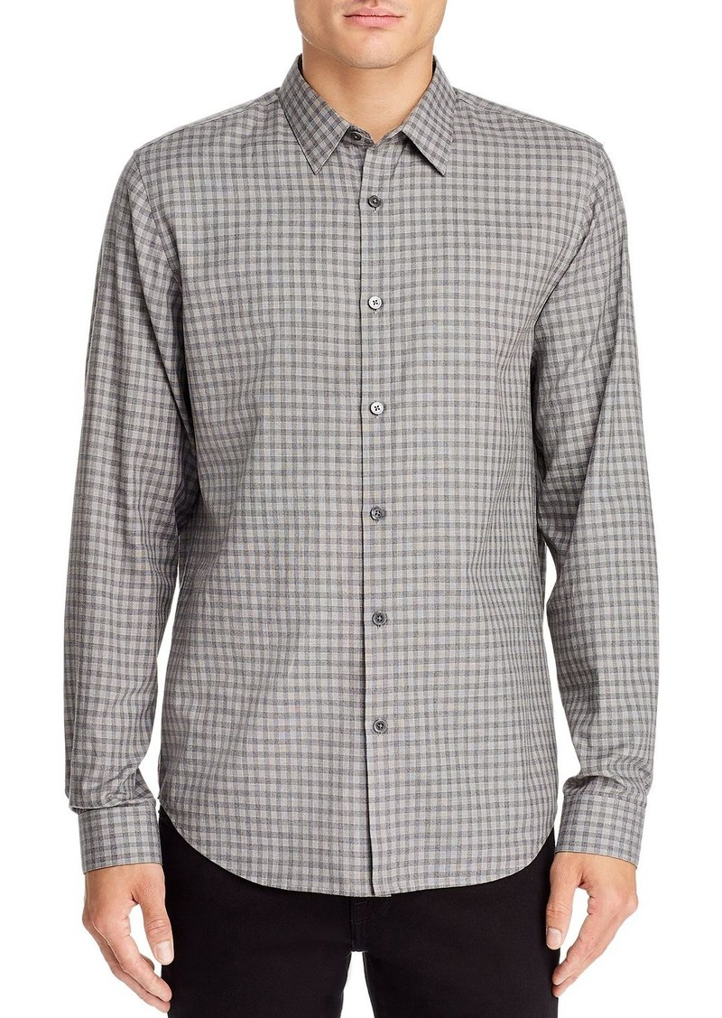 Theory Irving Visby Check-Print Regular Fit Shirt