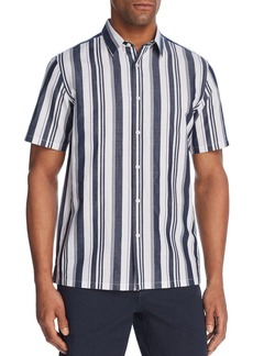 Theory Irving Wide Stripe Button-Down Shirt