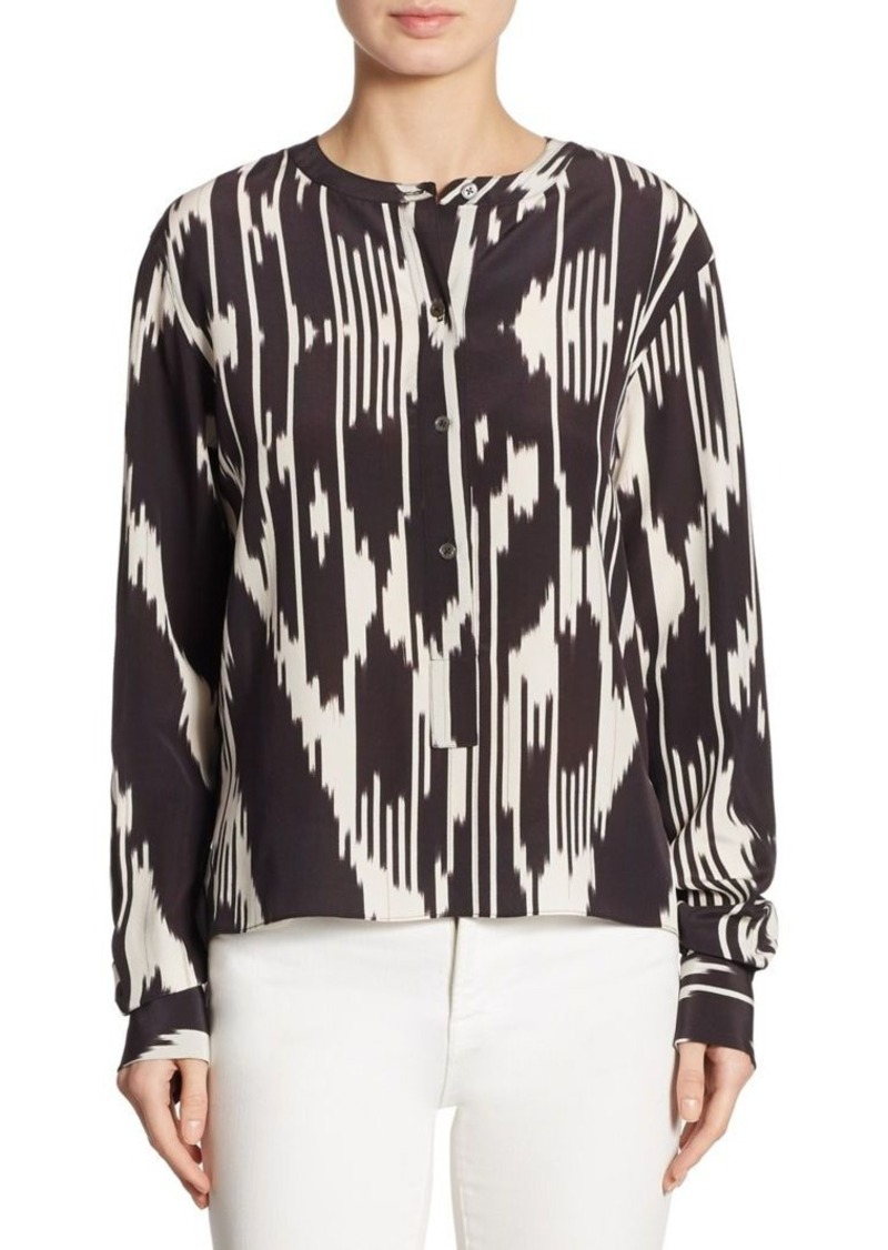 aadc82abc57b0 On Sale today! Theory Theory Isalva Interlace Ikat Silk Top