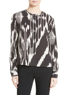 Theory Isalva Interlace Ikat Silk Top