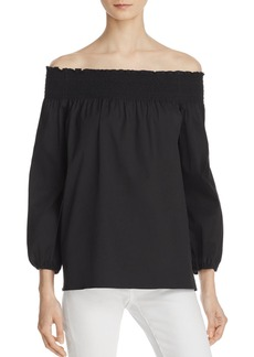 Theory Izalvan Off-the-Shoulder Blouse - 100% Exclusive