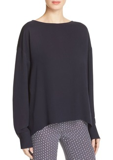 Theory Jarthstin Silk Georgette Blouse