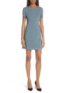 Theory Jatinn Hexagonal Print Stretch Wool Sheath Dress
