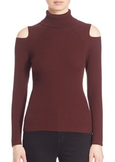 Theory Jemliss Evian Stretch Wool Blend Cold-Shoulder Sweater