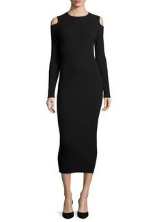 Theory Jemlora Cold-Shoulder Midi Dress