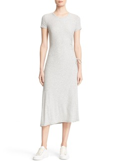 Theory Jilaena Asymmetrical Midi Dress