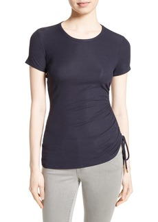 Theory Jilaena T Side Ruched Ribbed Tee