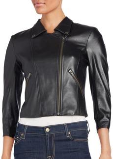 Theory Jotor Leather Moto Jacket