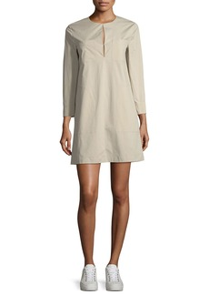 Theory Jullitah B Split-Front Poplin Tunic Dress