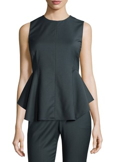 Theory Kalsing Sculptural Peplum Top