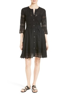 Theory Kalsingas E Eyelet Shirtdress