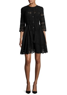 Theory Kalsingas Vintage Eyelet Cotton Dress