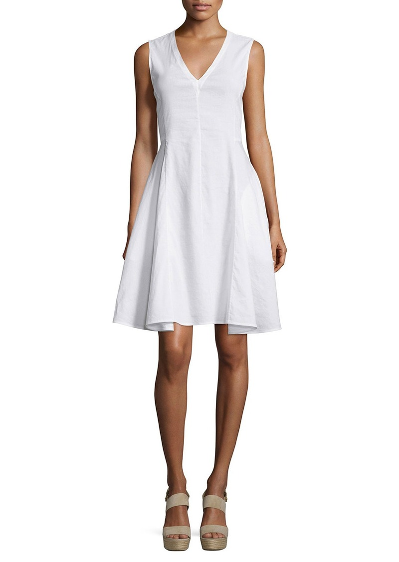 Theory Kalsington Crunch Wash A-Line Dress
