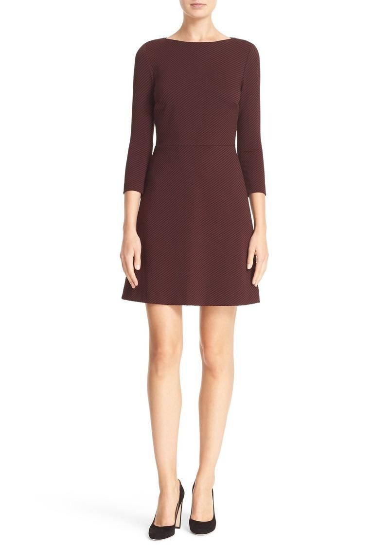 Theory Kamillina K Claymont Stretch Jacquard Fit & Flare Dress