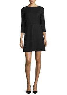 Theory Kamillina Saxton 3/4-Sleeve Dress