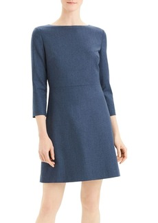 Theory Kamillina Virgin Wool Boat-Neck Dress