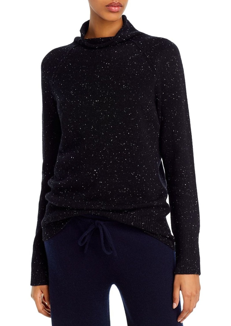 Theory Karinella Cashmere Donegal Knit Turtleneck