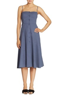 Theory Kayleigh Fit-&-Flare Midi Dress