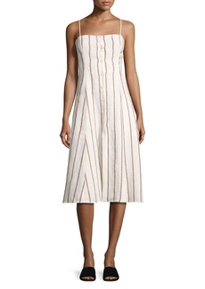 Theory Kayleigh Wide-Stripe Linen Sundress