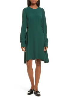 Theory Kensington Lace-Up A-Line Dress