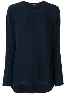 Theory keyhole detail blouse - Blue