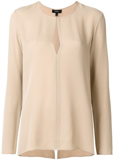 Theory keyhole relaxed blouse - Nude & Neutrals