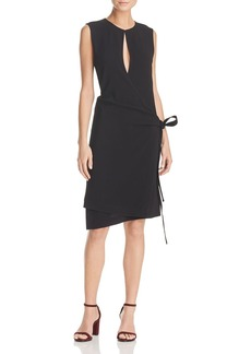 Theory Keyhole Wrap Dress