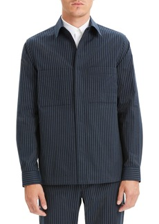 Theory Kian Kamino Stripe Shirt Jacket