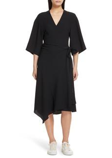 Theory Kimono Crepe Wrap Dress