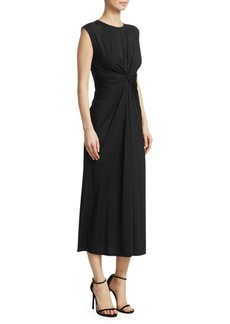 Theory Knot-Front Jersey Dress