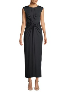 Theory Knot-Front Sleeveless Maxi Dress