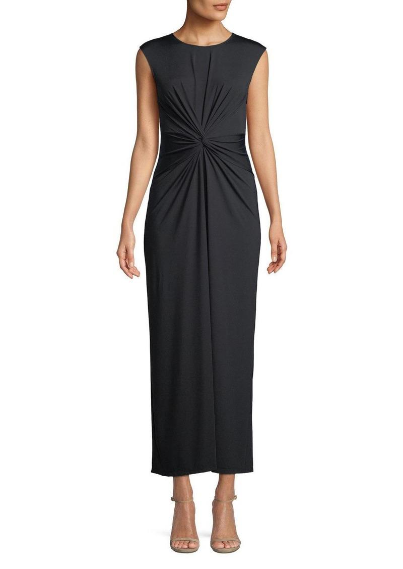 Theory Knot-Front Sleeveless Maxi Dress