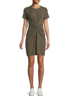 Theory Knotted Short-Sleeve T-Shirt Dress