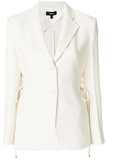 Theory lace-up detail blazer - White