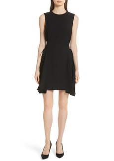 Theory Lace-Up Fit & Flare Dress