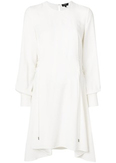 Theory lace-up side shift dress - White