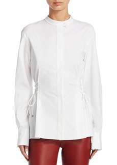 Theory Laced Button-Front Top