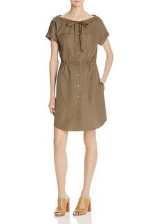 Theory Laela Stretch Cotton Shirt Dress