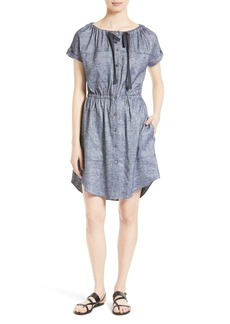 Theory Laela Tierra Chambray Shirtdress