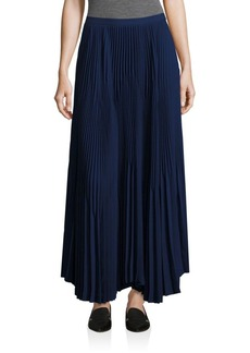 Theory Laire Crepe Pleated Midi Skirt