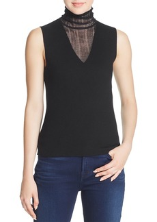 Theory Layered-Look Merino Wool Top