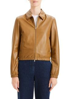 Theory Leather Bomber Jacket