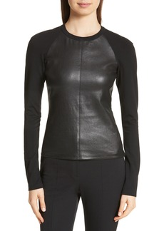 Theory Leather Front Top