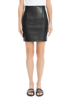 Theory Leather Mini Skirt
