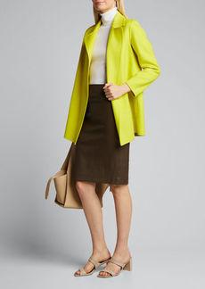 Theory Leenda Slim Regal Wool Elbow-Sleeve Turtleneck Sweater