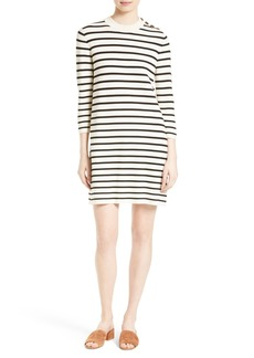 Theory Lemdrella Prosecco Stripe Sweater Dress