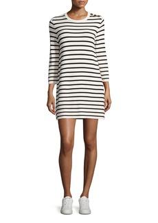 Theory Lemdrella Prosecco Striped Sweater Dress