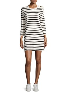 Theory Lemdrella Prosecco Striped Sweater Dress